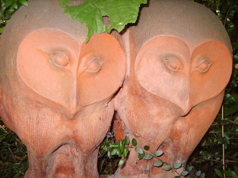 Keramik-Eulen