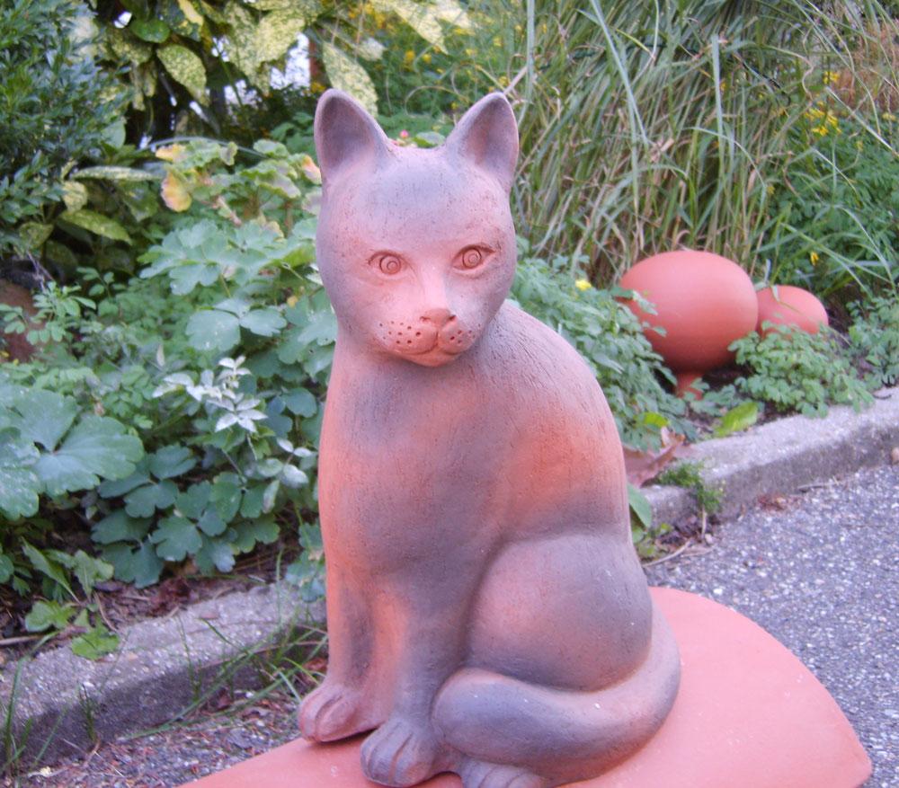 Keramik-Katze