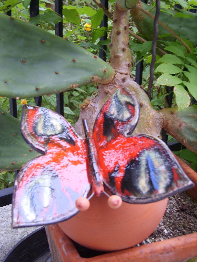 Keramik-Schmetterling