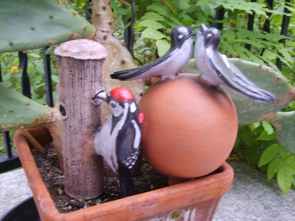Keramik-Vögel